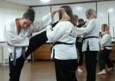 stretching in class