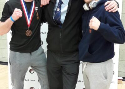Pro Am fighters John and Aaron with coach David