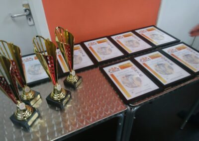 some of the local Taolu and Sanda certs and trophies getting ready