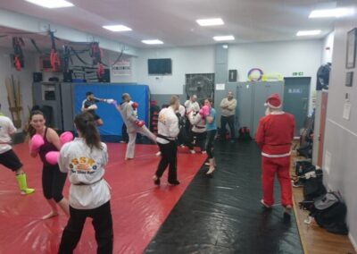 sparring in class under watchful eye of BB Azeem and Santa!