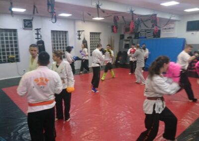 sparring in class