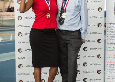 BCCMA comp Manager David and Head of Media Pamella gate crashing the podium