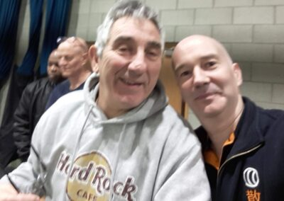 Glen (ZSK)- Pete - Paul - David selfie time during Pro Am kickboxing comp