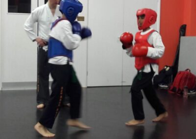 2 former SSK Little Dragons sparring and training towards their first ever competition