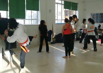 2nd Degree Black Belt Jon Alagoa teaching a class in Central London