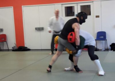 Aaron countering a takedown attempt
