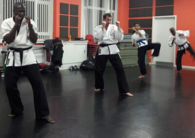 Black Belts Gabby and John M so quick they already finished their kicks LOL