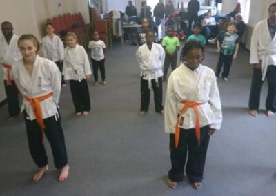 Bow E3 class getting ready to train